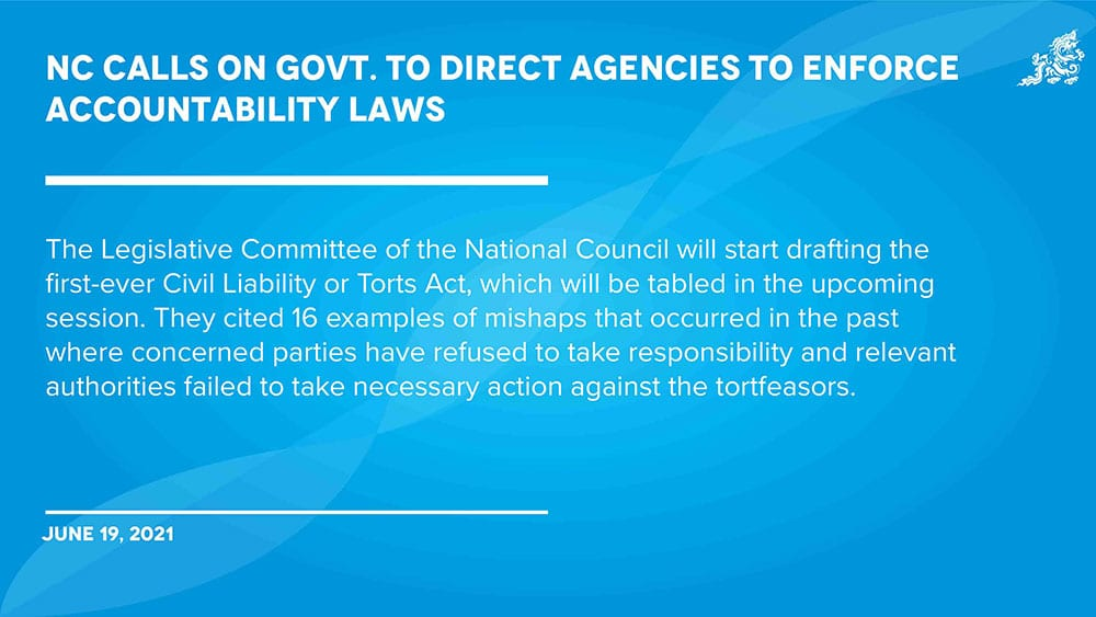 NC calls on govt. to direct agencies to enforce applicable laws foraccountability