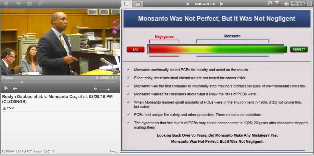Monsanto Faces In-Person Trial Over School's PCB Chemical Contamination, CVN To Webcast Live