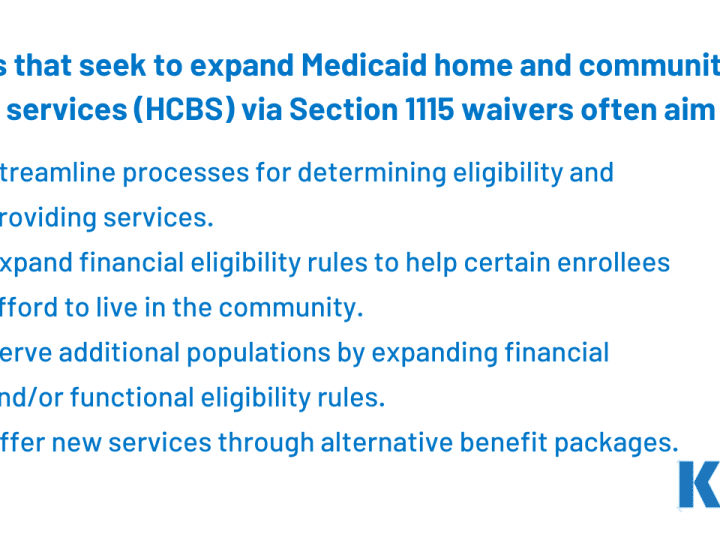 State Options to Expand Medicaid HCBS: Examples & Evaluations of Section 1115 Waivers