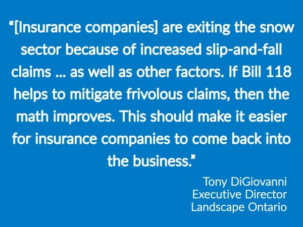 Notebook: Ontario Seeks To Reduce Slip-and-Fall Claims