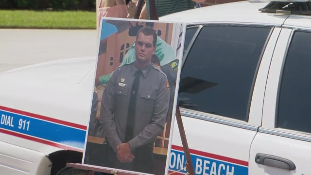 Family of fallen Daytona Beach officer files $5M suit against man accused of killing him